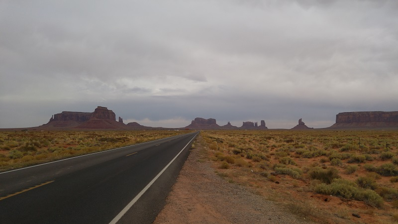 Im Monument Valley.....